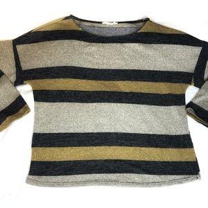 Peach Love California Striped Crop Sweater